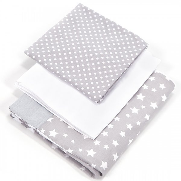 Сменный постельный комплект Верес Smiling Animals white-grey (3ед.)