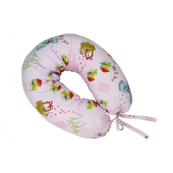 Подушка для кормления Veres Soft pink (165*70), арт. 301.03