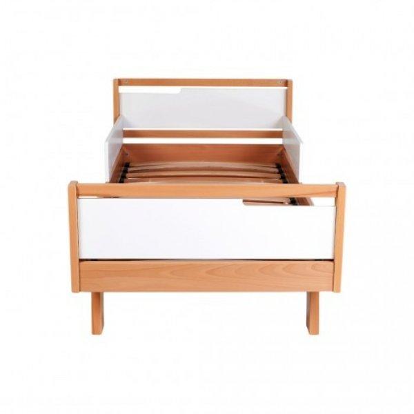 Кровать подростковая Манхеттен бело-буковая 1600*800
