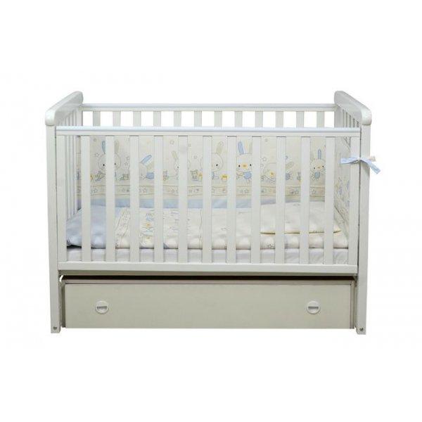Детская кроватка Соня ЛД12 белая (ящик, маятник продольный) Верес
