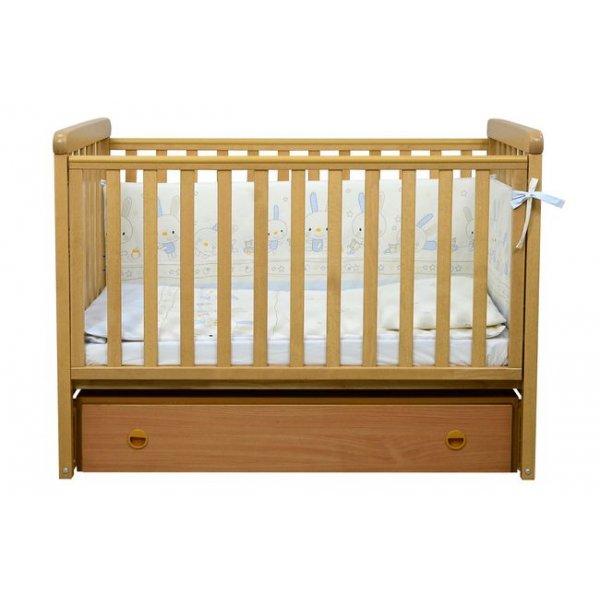 Детская кроватка Верес Соня ЛД12 (маятник продольный,ящик) бук Верес
