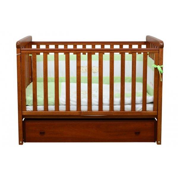 Детская кроватка Соня ЛД12 (маятник продольный,ящик) ольха Верес