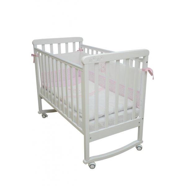 Детская кроватка Верес Соня ЛД12 белая/резьба/лапки