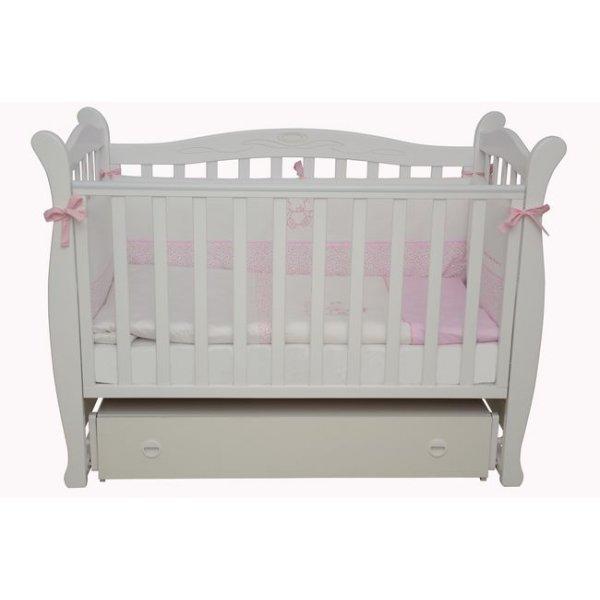 Детская кроватка Соня ЛД15 белая Верес