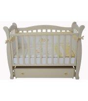 Детская кроватка Соня ЛД15 ( ящик, маятник) слоновая кость Верес