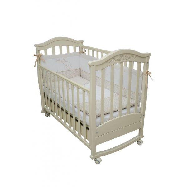 Детская кроватка Верес Соня ЛД3 сл.к. с резьбой, арт. 03.04