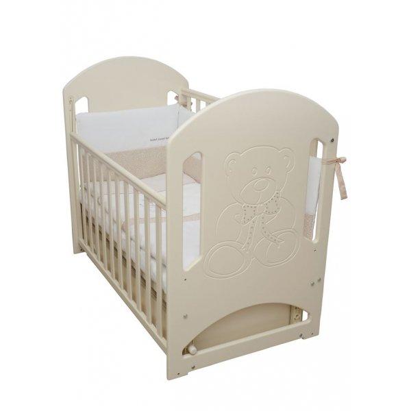Детская кроватка Верес Соня ЛД 8 сл.к. (декор мишка со стразами), арт. 08.04