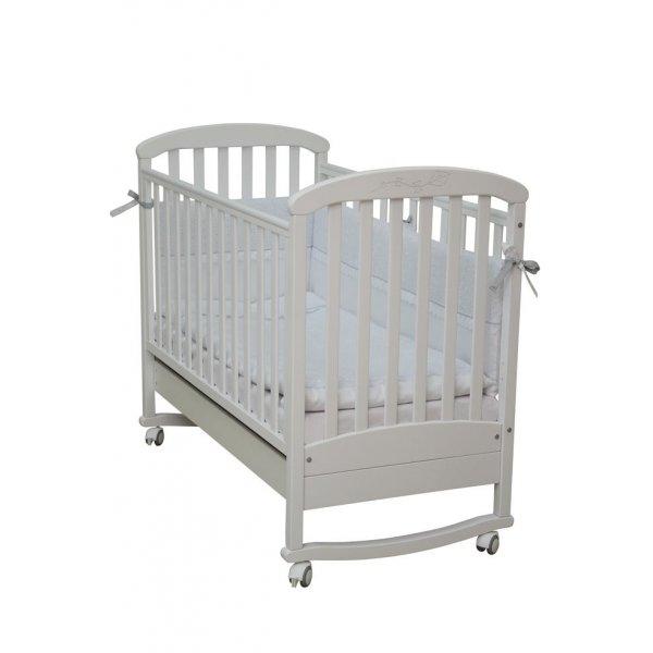 Детская кроватка Верес Соня ЛД9 белая с резьбой