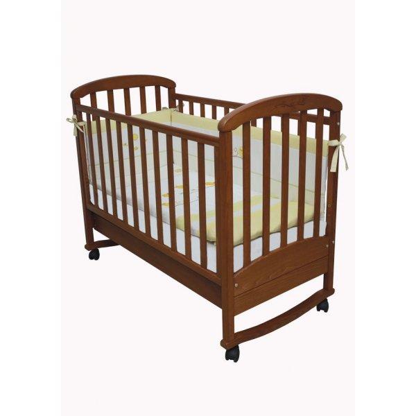 Детская кроватка Верес Соня ЛД9 ольха с резьбой