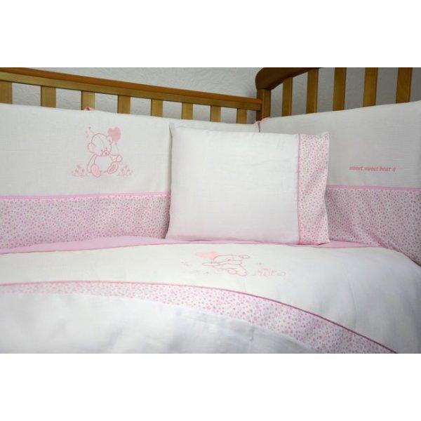 Сменная постель Veres Sweet Bear pink(3ед.) арт. 153.1.08