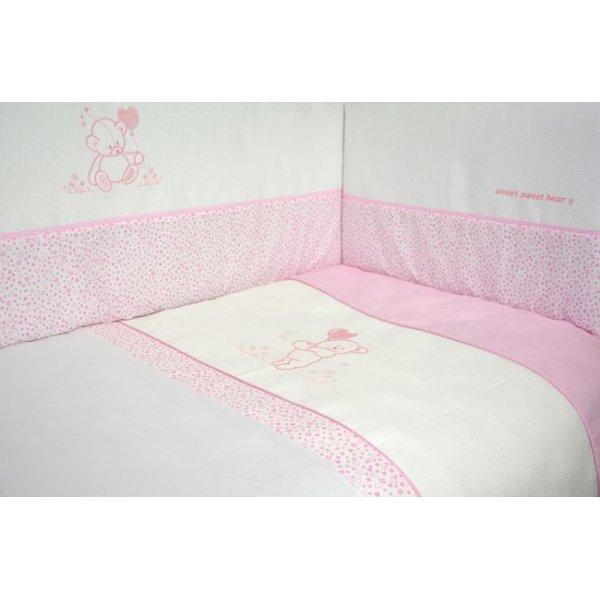 Защита(бампер) Veres Sweet bear pink(4ед.) арт. 154.1.09