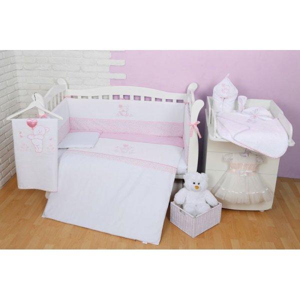 Постельный комплект Veres Sweet Bear pink (6ед.) арт. 147.01