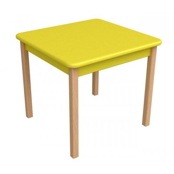 Столик Верес дерево/МДФ желтый, арт. 29.2.17