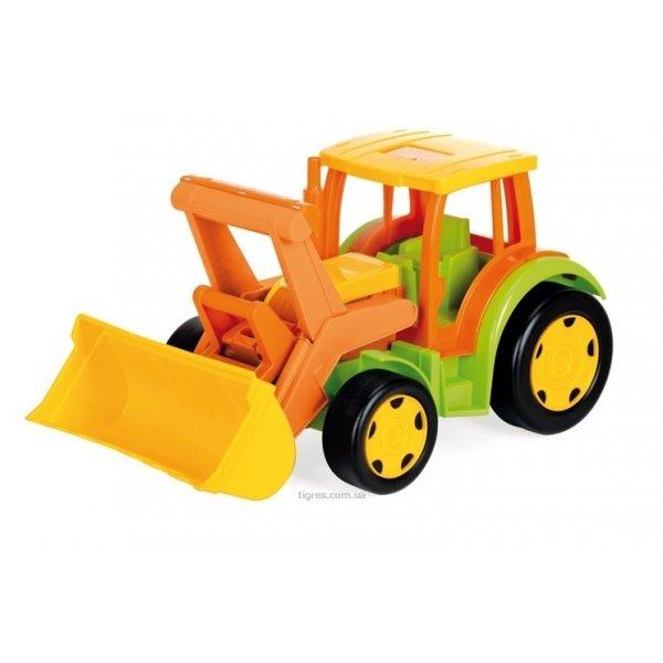 Большой игрушечный трактор Гигант с ковшом(без картона)