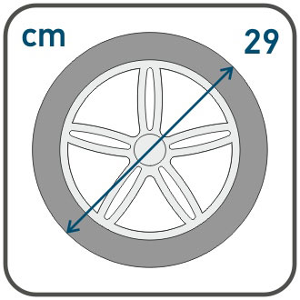 Диаметр задних колес